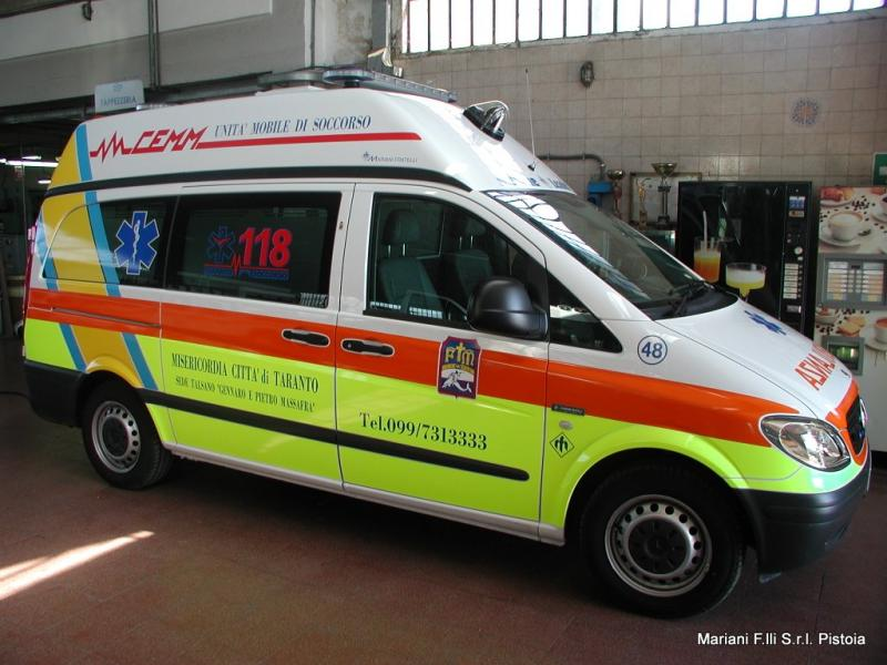 Ambulanza su Mercedes Vito 2°V